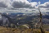 Scenic Mountain Overlook into Glacier National Park  Montana
