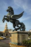 Equine Sculptures Link Getsemani with El Centro  Cartagena  Colombia