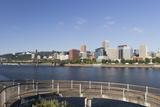 Oregon  Portland Downtown from across the Willamette River