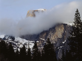 California  Sierra Nevada  Yosemite NP  Half Dome with Snow and Clouds