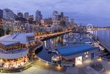USA  Washington  Seattle Night Time Skyline from Pier 66