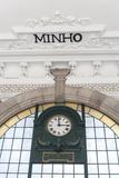 Europe  Portugal  Oporto  Clock in Train Station