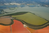 California  San Francisco  Aerial of Salt Ponds in Bay