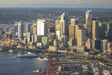 Aerial View of Seattle  Washington State  USA