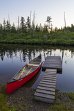 A Canoe Dock on the Cold Stream in the Northern Forests  Maine