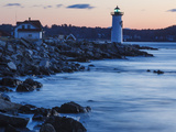Portsmouth Harbor Lighthouse in New Castle  New Hampshire Dawn