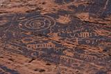 Petroglyph  Petroglyph Canyon  Valley of Fire State Park  Nevada  USA