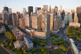 Lower Manhattan  Financial District  New York  USA