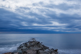 Dawn over the Breakwater at Wallis Sands SP in Rye  New Hampshire