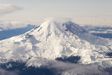 USA  Washington State  Mt Rainier with Cap Cloud