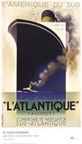 L'Atlantique Reproduction d'art par A.M. Cassandre
