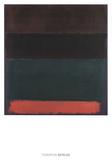 Red-Brown, Black, Green, Red Reproduction d'art par Mark Rothko