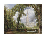 Salisbury Cathedral from the Bishop's Ground  1823