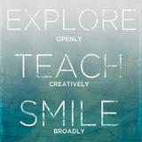 Explore  Teach  Smile (teal)