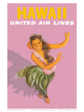 Hawaiian Hula Dancer - United Air Lines