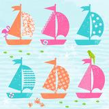 Cabanas & Sailboats II