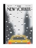 Rainy Day - The New Yorker Cover, October 6, 2014 Giclée premium