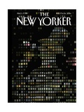 Night Windows - The New Yorker Cover  February 17  2014