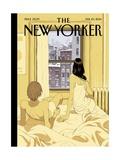 Perfect Storm - The New Yorker Cover, February 10, 2014 Giclée premium par Tomer Hanuka
