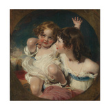 The Calmady Children (Emily  1818–1906  and Laura Anne  1820–94)  1823