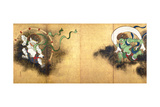 The Thunder God Raijin (left) and the Wind God Fujin (right)  c1700