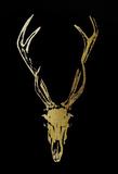 Gold Foil Rustic Mount I on Black Reproduction d'art par Vision Studio
