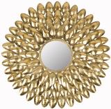 Royal Leaf Sunburst Mirror