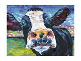 Curious Cow II Reproduction d'art par Carolee Vitaletti