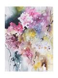 Blooms Aquas III Reproduction d'art par Leticia Herrera