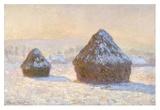 Wheatstacks  Snow Effect  Morning (Meules  Effet de Neige  Le Matin)