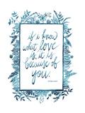 Love Quote II Reproduction d'art par Grace Popp