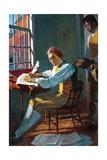 Thomas Jefferson in His Study