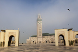 The Plaza in Front of the Hassan Ii Mosque  the Largest Mosque in Africa