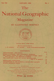 Cover of the January  1896 National Geographic Magazine