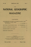 Cover of the February  1900 National Geographic Magazine