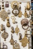 Assorted Brass Door Knockers for Sale in the Medina of Fez