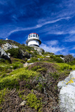 An Antique Lighthouse Summits a Cliff Near the Cape of Good Hope