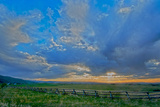 A Magnificent Sunset Sky over Rural Montana