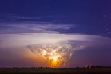 A Tornadic Supercell Thunderstorm  over 80 Miles Away  with a Large Tornado Touching Ground