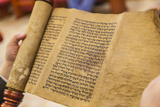 Jews Read the Scroll of Esther During a Celebration of Purim  Neve Shalom Synagogue  Casablanca
