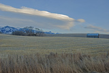 Lenticular Clouds Hover over the Bridger Mountains and Harvested Wheat Fields  Montana