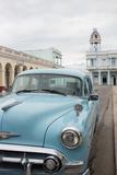 A Vintage Chevrolet in Plaza Jose Marti  Cienfuegos  Cuba