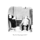 """""""Boy  have they got your number!"""" - New Yorker Cartoon"""