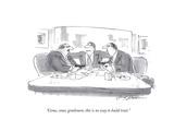 """""""Come  come  gentlemen  this is no way to build trust"""" - Cartoon"""