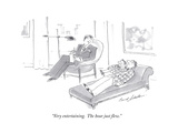 """""""Very entertaining  The hour just flew"""" - Cartoon"""