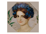Daughter of the artist with cornflowers in her hair  1909