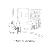"""""""A penny for your tweet"""" - Cartoon"""