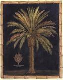 Caribbean Palm I With Bamboo Border
