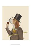 Beagle Wine Snob