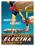 American Airlines - Jet Powered Electra Flagships - Lockheed L-188s